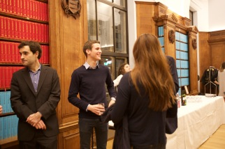 Pre-dinner drinks in the Webb Library in West Court, Jesus College (Rasmus Christensen)
