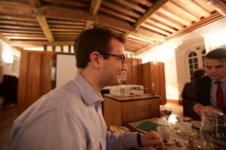 Christian enjoying dinner